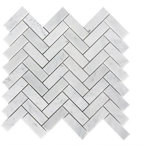 Italian Marble Herringbon, Italian Carrara White, Polished